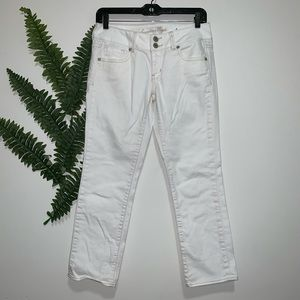 American Eagle Outfitters White Capri Artist 2 EUC